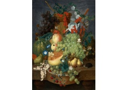 Krásné obrazy II-93 Jan Van Os - Zátiší s ovocem a myší na římse