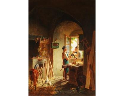 Krásné obrazy II-294 Karl Naumann - Rozhovor s tesařem