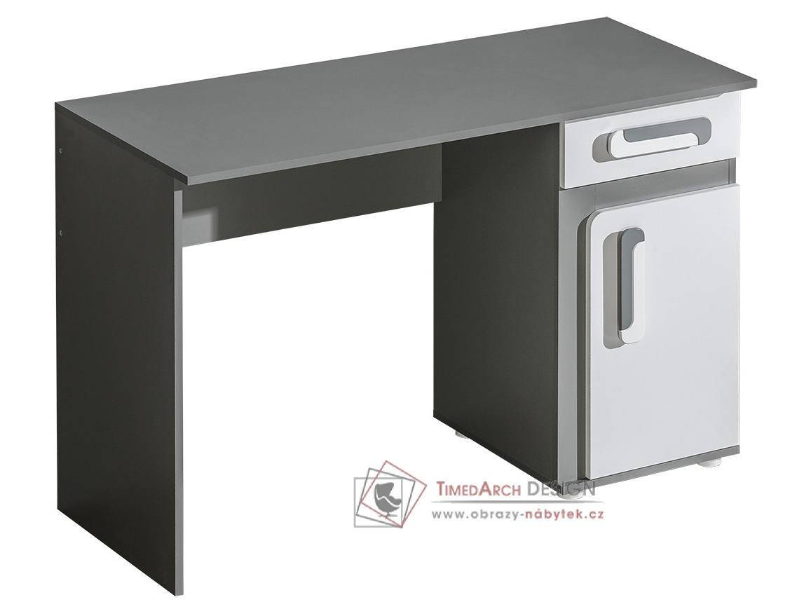 Pracovní stůl APETTITA 9 antracit / bílá