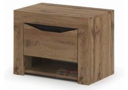PAOLA, noční stolek se zásuvkou, dub kraft zlatý / wenge