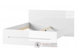 SELENE, postel 160x200cm 33, bílá / bílý lesk