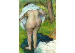 A-165 Edgar Degas - Mladá žena oblékající se