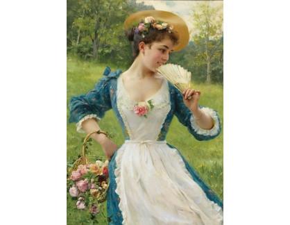 Slavné obrazy I-DDSO-106 Federico Andreotti - Mladá kráska s košem růží