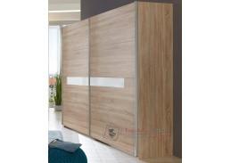 PAMELA 862, šatní skříň posuvnými dveřmi 270cm, řezaný dub