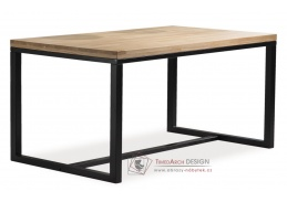 Jídelní stůl 120x80cm LORAS A černá / dýha dub