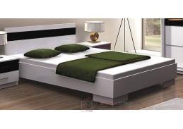 DUBAJ, postel 160x200cm, bílá / černé sklo