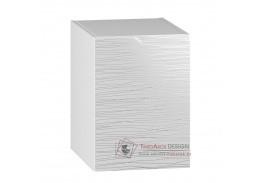 NARAN, dolní koupelnová skříňka D40L - levá, bílá / bílý lesk vzor