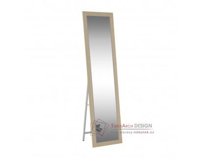 ASUEL, zrcadlo stojací, bílo-šedá