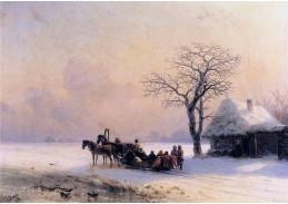VR46 Ivan Konstantinovič Aivazovsky - Zimní scéna z malé Rusi