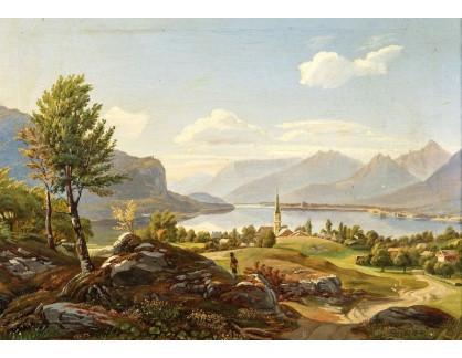 Slavné obrazy IX DDSO-947 Neznámý autor - Pohled na jezero