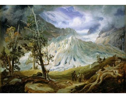 Slavné obrazy XIV-406 Thomas Fearnley - Ledovec Grindelwald