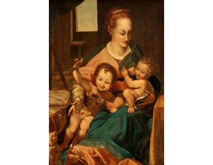Slavné obrazy XVII-38 Federico Barocci - Madonna s dítětem a Janem Křtitelem