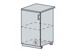 VERONA, dolní skříňka 1-dveřová 50D, bílá / jasan šimo