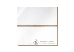 LINE, horní skříňka 2-dveřová G60U, dub sonoma / bílý lesk