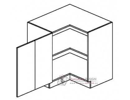 Dolní skříňka rohová 80x80 cm DRPL PREMIUM de LUX olše - levá