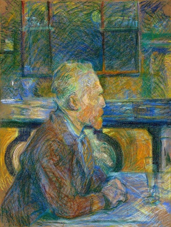 R7-101 Henri Toulose-Lautrec - Portrét Vincenta van Gogha