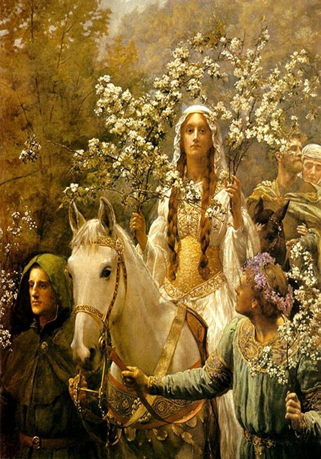 VANG101 John Maler Collier - Královna Guinevra