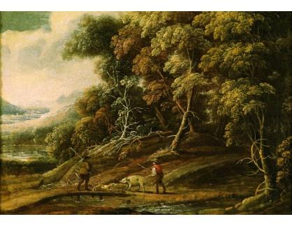 Slavné obrazy III-DDSO-546 Denis van Alsloot - Setkání na okraji lesa