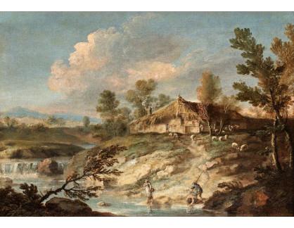 Slavné obrazy XVI-300 Bartolomeo Pedon - Pastoráční krajina