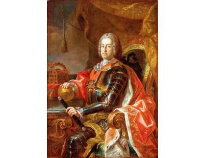 Krásné obrazy II-403 Martin van Meytens - Portrét císaře Františka I Štěpána
