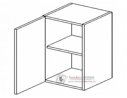 Horní skříňka jednodvéřová W60L PREMIUM de LUX hruška - levá