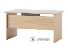 OMEGA 09, pracovní stůl 140cm, jantarový dub