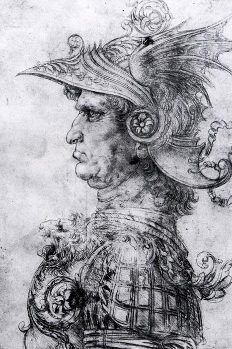 R1-205 Leonardo da Vinci - Muž v helmě