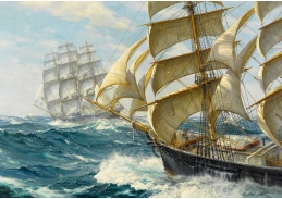 Krásné obrazy I-11 Charles Vickery - Závodní jachty Ariel a Taeping