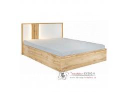 VODENA, postel s ÚP 180x200cm, dub wotan / bílá