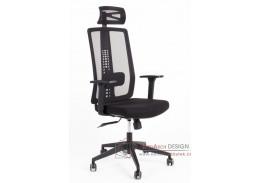 RON ZK10, kancelářská židle, látka mesh černá
