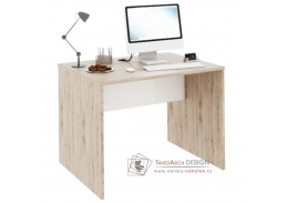 RIOMA 12, psací stůl, dub san remo / bílá