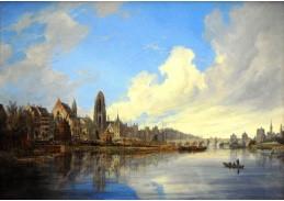 VN-1 Domenico Quaglio - Pohled na Frankfurt nad Mohanem
