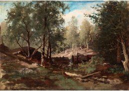 Slavné obrazy XVI-128 Alfred Wahlberg - Lesní krajina