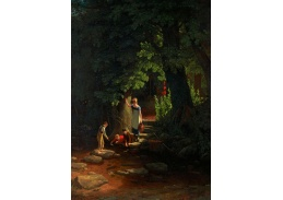 Slavné obrazy XVII-83 Francis Danby - Děti u potoka