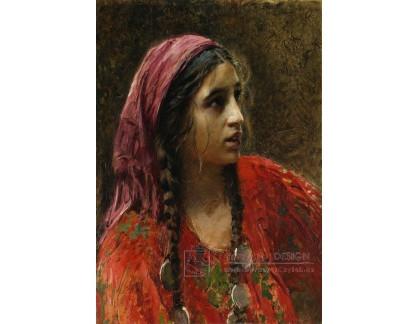 PORT-371 Konstantin Makovsky - Portrét cikánky
