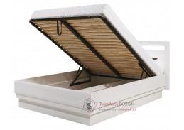IRMA IM16/180SP, postel s roštem 180x200cm, bílá / vysoký lesk bílý