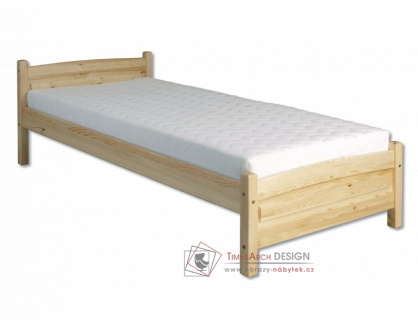 KL-125, postel 100x200cm, borovicový masiv