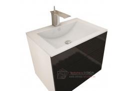 MASON, koupelnová skříňka pod umyvadlo, bílá / černý lesk