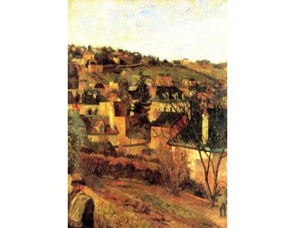 R9-13 Paul Gauguin - Modré střechy v Rouen