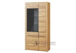 KAMA, 12 vitrína 2-dveřová, dub camargue / černá