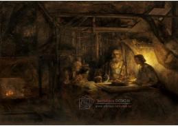 D-7593 Rembrandt - Philemon a Baucis