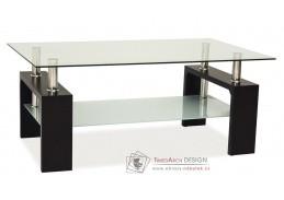 Konferenční stolek LISA BASIC wenge / sklo