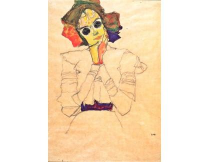 VES 113 Egon Schiele - Dívka se slunečními brýlemi