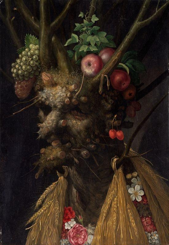 Giuseppe Arcimboldo - Čtyři roční období