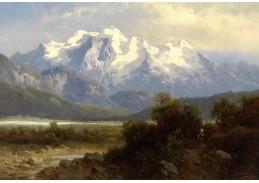 Slavné obrazy VIII-140 Josef Thoma - Podhorská krajina