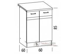 ELIZA, dolní skříňka 2-dveřová EZ14/D60, výběr provedení