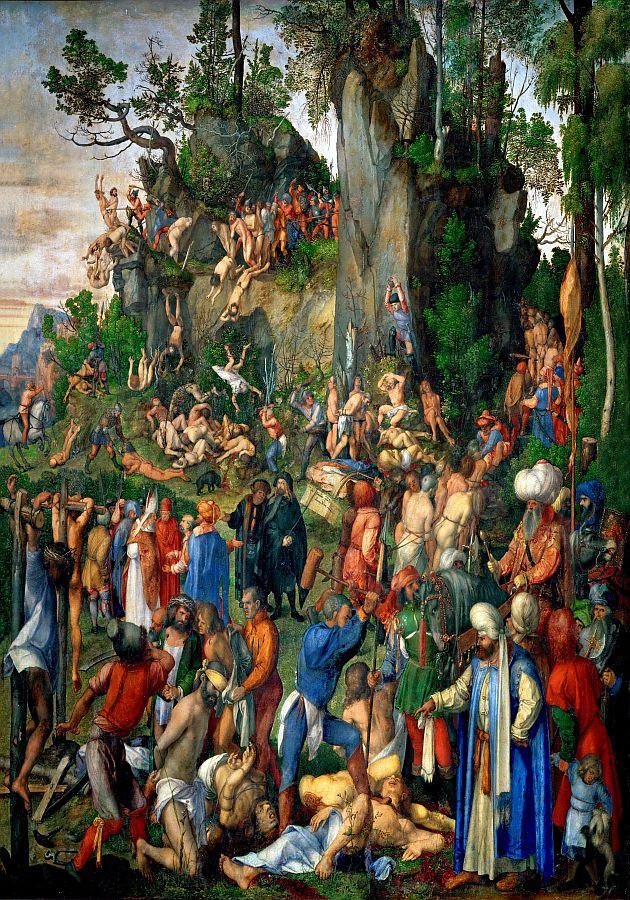 R12-100 Albrecht Dürer - Mučednictví 10 tisíc křesťanů