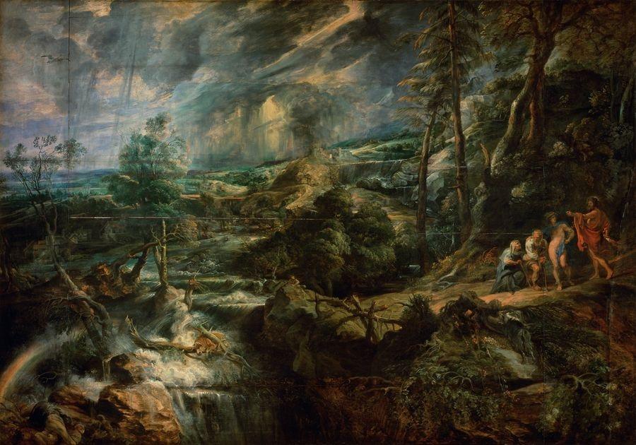 VRU196 Peter Paul Rubens - Krajina s Filemonou a Baucisem