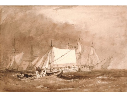 Joseph Mallord William Turner - Scéna s rybáři