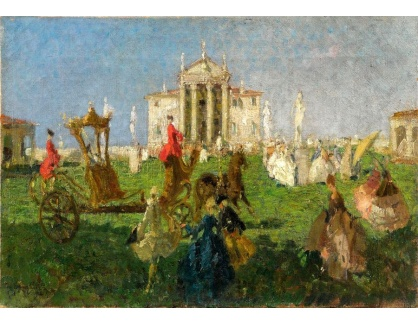 Slavné obrazy III-DDSO-572 Emma Ciardi - Villa Capra Bassani ve Vicenze